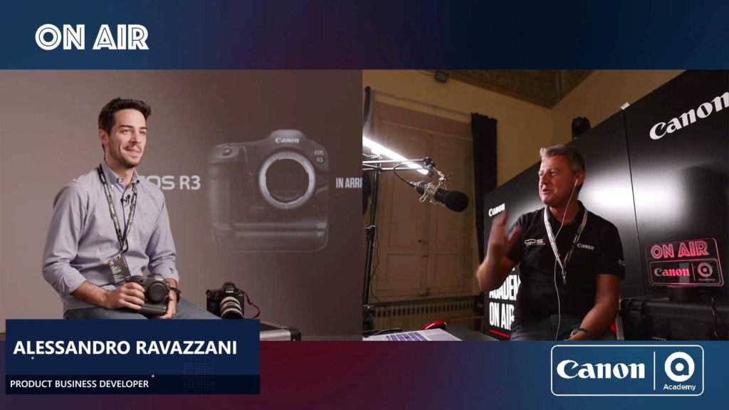 Alessandro Ravazzani - Product Business Developer chez Canon Italia dans une interview réalisée par Canon Academy Italie au Festival de Cortona