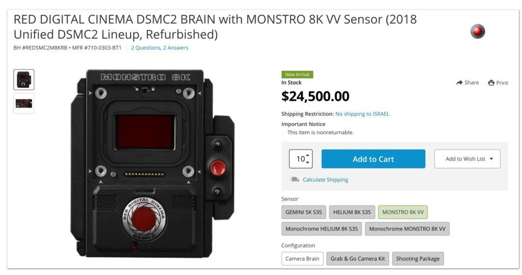Le RED Monstro 8K VV