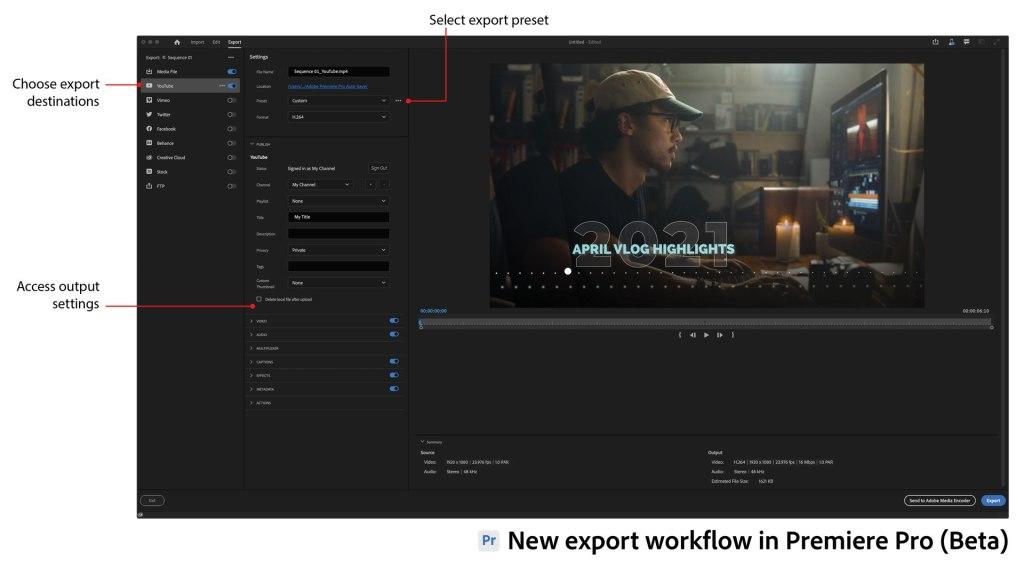 Nouveau workflow d'exportation