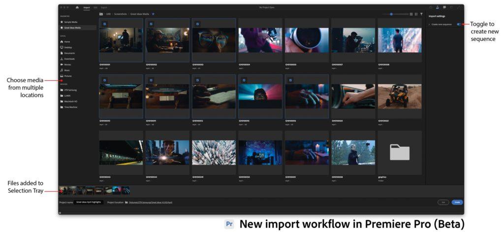 Nouveau workflow d'importation