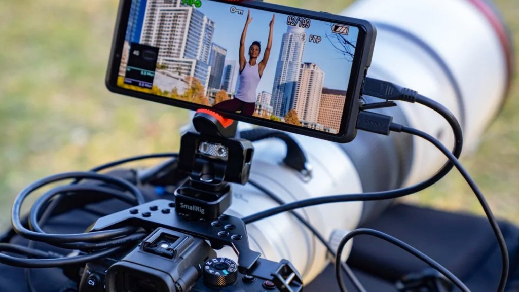 Le Xperia Pro sur les applications cinématographiques