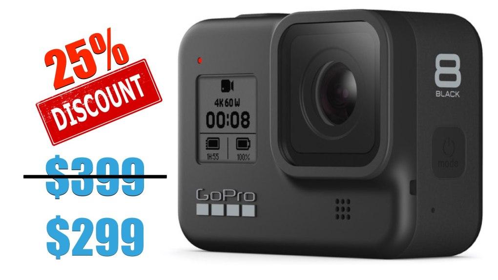 GoPro HERO8 Black: 100$ de rabais