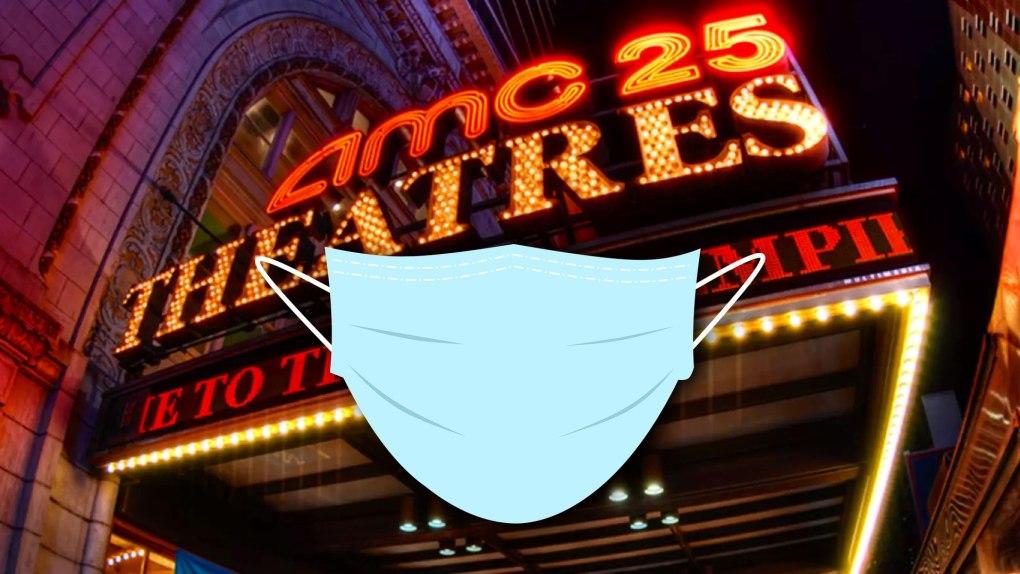 Port de masques chirurgicaux dans les théâtres AMC.  Image : AMC