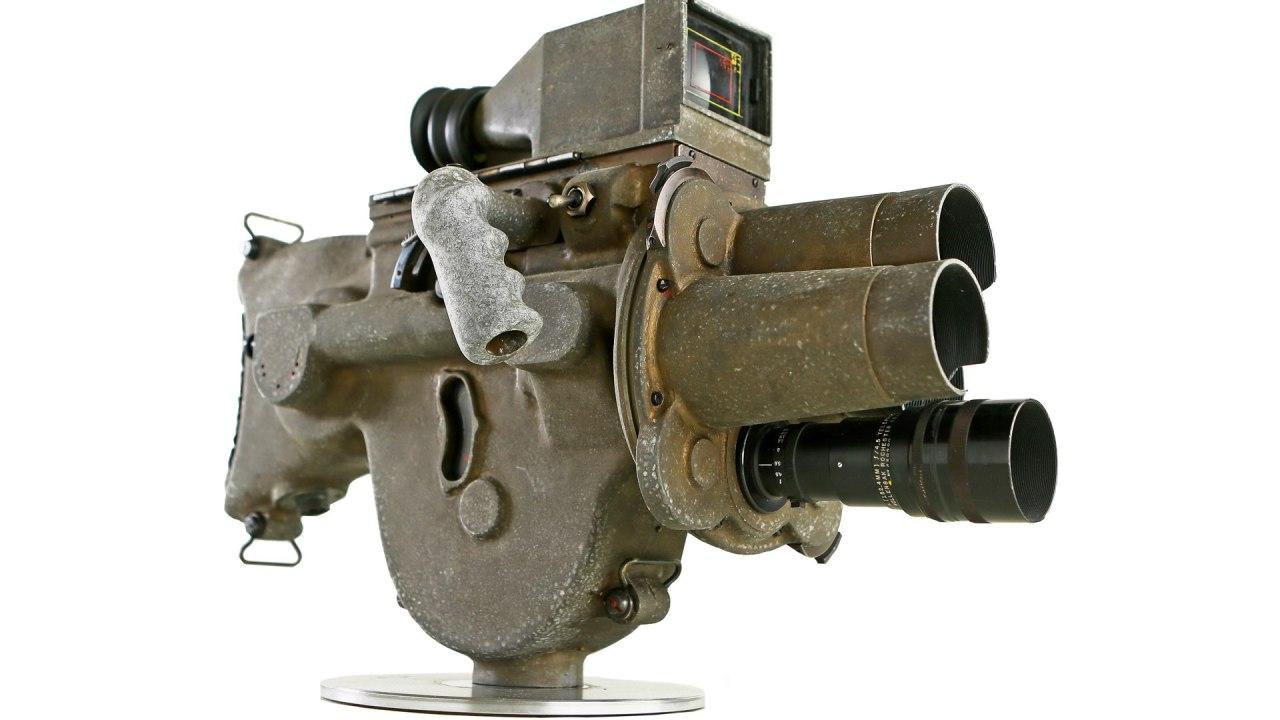 Caméra de combat Cunningham modèle C. Photo : cinéaste américain
