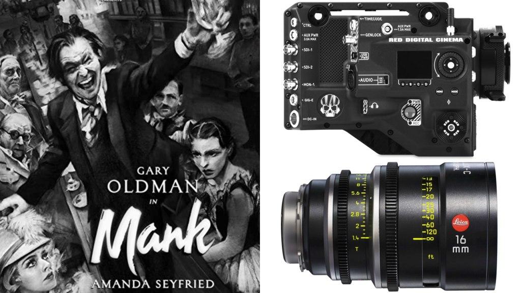 «Mank» (Netflix): DP: Erik Messerschmidt, ASC.  Caméras : RED Ranger HELIUM Monochrome.  Verres : LEICA Summilux C