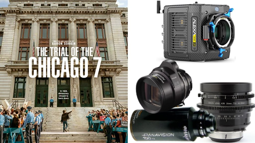 «Le procès des 7 de Chicago» (Netflix): DP: Phedon Papamichael, ASC, GSC.  Caméras : ARRI ALEXA Mini LF.  Objectifs : Panavision Anamorphic C et T-Series, Canon K 35
