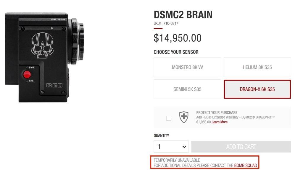 DSMC2 Dragon-X 6K S35 : temporairement indisponible