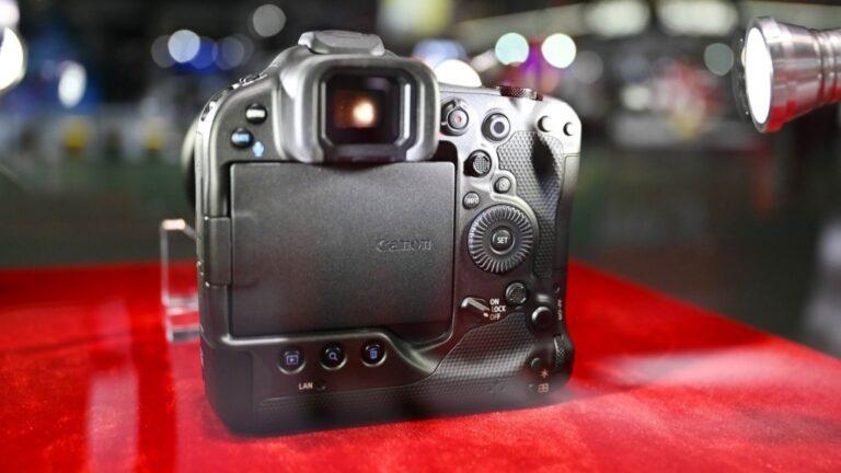 Canon EOS R3 repéré au salon de la photo et de l'imagerie de Shanghai