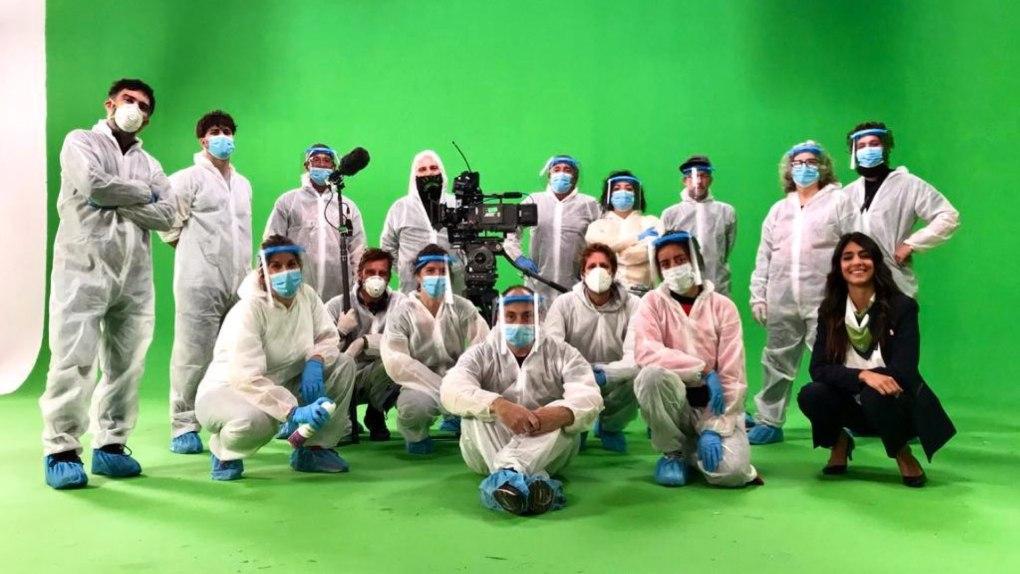 Réalisation de films pendant COVID-19.  Image : Marote