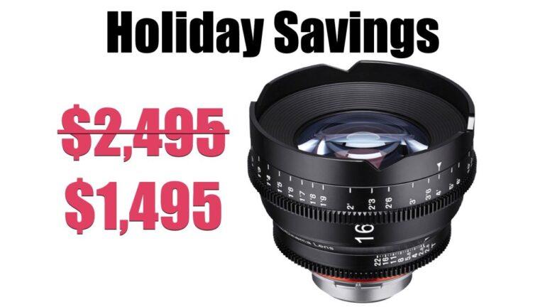 Meilleure offre de vacances pour les cinéastes : objectif cinéma Rokinon Xeen 16 mm T2.6 pour seulement 1 495 $