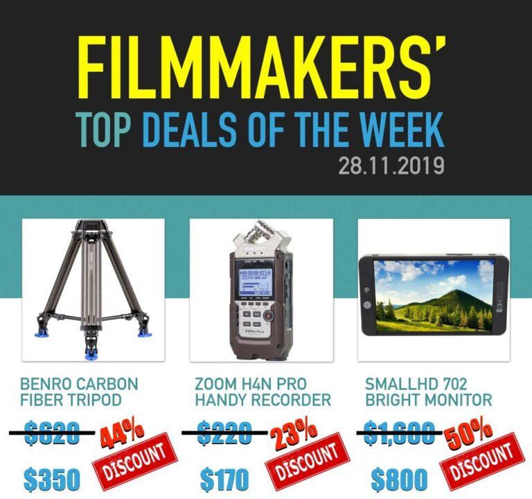 Meilleures offres de la semaine des cinéastes: trépied en fibre de carbone Benro, Zoom H4n Pro et SmallHD 702