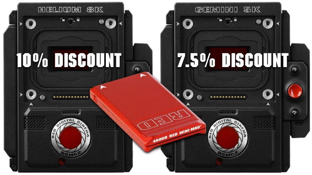 10% de réduction sur un nouvel appareil photo RED