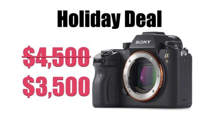 Offre de vacances: économisez 1000 $ sur le Sony Alpha a9 sans miroir