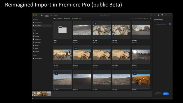Premiere Pro fait peau neuve : importation et exportation facilitées