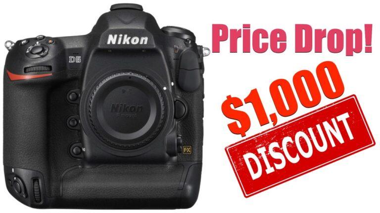 Se préparer pour le Nikon D6 : énorme baisse de prix sur le Nikon D5