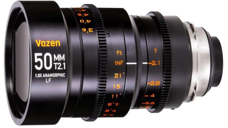 Vazen présente un objectif anamorphique 50 mm 1,8x pour les appareils photo plein format
