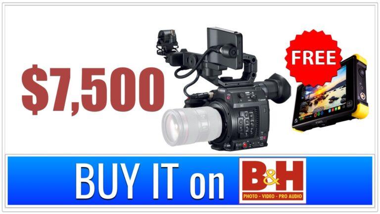Vente officielle Canon : Achetez C200 et obtenez GRATUITEMENT Atomos Shogun Flame